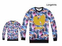 Sale Wu tang hip hop t shirt men's cotton high quality tshirt full sleeve Floral Leopard Graphic camo boys sport tee shirt cheap