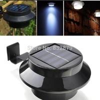 1 Pc Black Super Bright Yard Lamp Solar Panel Garden Light 3 LED Lights Outdoor Home Decor Deft Design Garden Solar Light