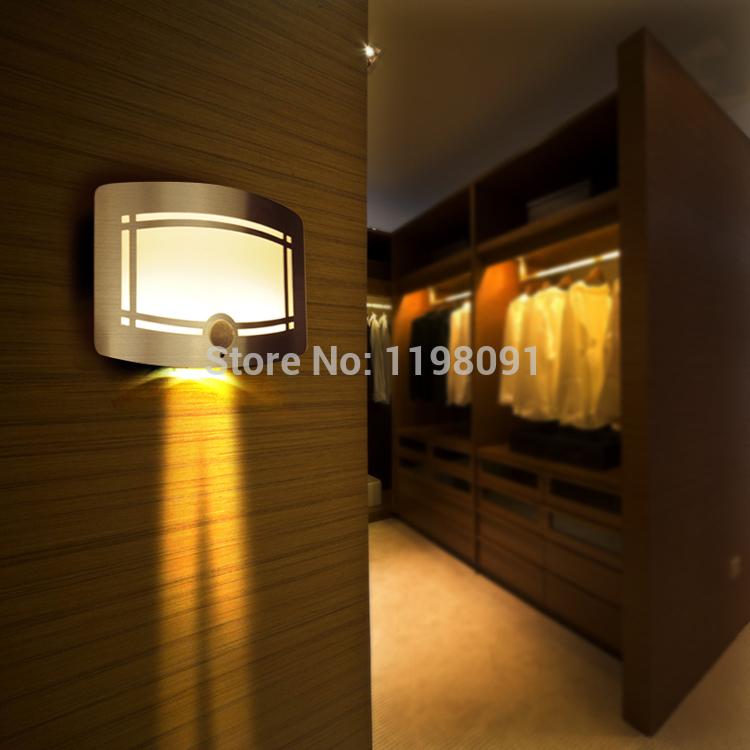 LED Closet Light Energy Saving Sensitive Human infrared induction Home Battery Night Light PIR Sensor Wall Sconce Free Shipping(China (Mainland))