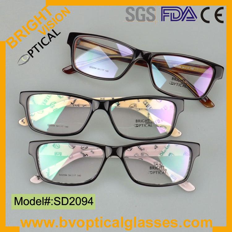 SD2094 Fast delivery wayfarer acetate glasses in stock optical eyeglasses frame(China (Mainland))