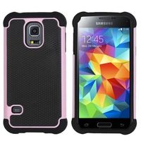Wholesale 10pcs/lot Hybrid Rubber Silicone PC  Shock proof Case For Samsung Galaxy S5 Mini