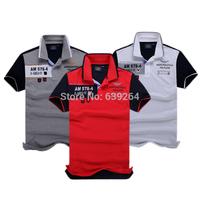 High-quality brand aeronautica militare men shirt male camisas masculinas shark camisetas new 2014 LA air force one 1