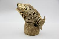 Chinese Bronze Statue Sculpture Copperware Collection Collectible  Fish Censer  Oriental Bronze Copper Ware On Sale!