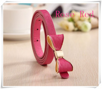 Candy Color Lady's Slender waist belt bowknot slender waist belt female new belt women fashion thin belts for women