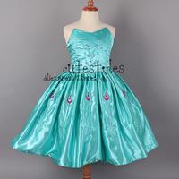 Retailer 2014 Frozen Anna Elsa Girl Party Dress Custom made Movie Cosplay Dress Girl  Frozen Princess  Dresses For Children 3-8