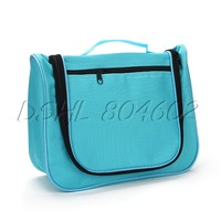 Blue Oxford Toiletry Travel Bag Outdoor Cosmetic Bag With Zipper