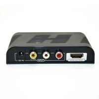 2pcs/lot Mini Composite RCA CVBS AV to HDMI Converter Adapter For VCR DVD 720P 1080P New