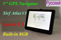 Special Offer! 5 inch auto gps, Car Gps Navigator, built-in 8GB flash, free maps or Russia Navitel 8.5 map, sirf Atlas VI 800Mhz