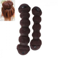 1 Set (2pcs) Updo Bun Maker Hair Styling Tool Magic Donut Shaper Hairdo DIY Tool