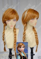 FREE SHIPPING **Frozen Anna Ginger Brown w/ Highlights Braided Cosplay Party Wig