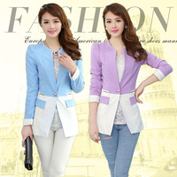 2014 spring fresh fashion gentlewomen slim elegant formal blazer ol long-sleeve short jacket