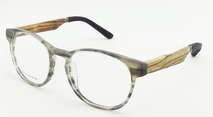 free shipping new design acetate frame woodrubber temples optical frame model zf110 - Wood Eyeglass Frames