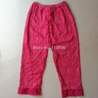 Soft  colors kids boutique lace leggings flowers print, free shipping 100pcs /lot