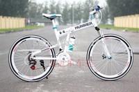 26*17 hummer mountain bike folding mtb variable speed drive disc cross country mountain bike