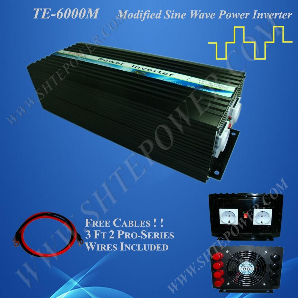 6000W electrical inverter 12v DC TO 110V/120V220V240V AC off grid modified sine wave inverter(China (Mainland))