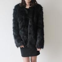 Women's winter faux fur long sleeve winter coat, fur jacket S/M/L/XL free shipping