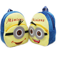 Free shipping hot selling school bag for kids and children minions design little yellow kids backpack good quality