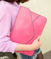 Tide brand casual fashion handbags bag large envelope clutch bag candy color quality