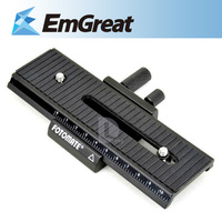 New Fotomate LP-01 Micro 2 Way Focusing Rail Slider Plate for DSLR Camera 340429509W Free Shipping