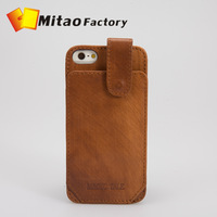 Italy Vegetable Leather Wallet Stand Case for iPhone 5 Punch Slim Case with Back Card holder Wallet Buckle Closure Safe Case