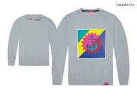 Autumn long-sleeve T-shirt Famous Brand fashion male clothes long sleeve o-neck t-shirt top design Pink dolphin printed tees