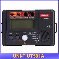 Free Shipping 100% original Insulation Resistance Tester UNIT UNI-T UT501A, 0-1000V , 5.5G ohm Multi-function Ohm Tester Meter