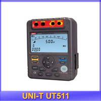 Free Shipping 100% original UNI-T UT511 Insulation Resistance Tester 100V/250V/500V/1000V Output Voltage+ power adaptor