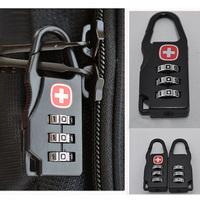 Swiss Army Knife Metal Mochila Locks the mark password Lock Luggage and Travel Bag Cocks Digital Combination Lock  17389