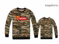 2014 new version Supreme camo hip hop tees men Box Logo camouflage tshirt long sleeve cotton galaxy tee & tops Leopard clothing