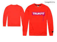Trukfit hip hop t-shirt for man vintage street Skateboard Clothing with long sleeve fashion print tee shirts size S M L XL XXL