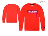 Trukfit hip hop t-shirt for man vintage street Skateboard Clothing with long sleeve fashion print tee shirts size S M L XL XXL