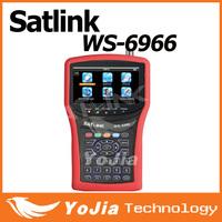 Original  Satlink WS-6966 Satellite Finder Meter MPEG4 DVB-S2 Meter Satlink 6966 HD HDMI Satellite Singnal Finder freeshipping