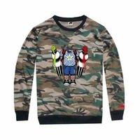 Trukfit tee shirts for man long sleeve camo clothes Leisure hiphop Mens fashion Military sportswear tees tops camouflage t shirt