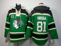 Free Shipping stitched chicago  #81 Marian Hossa Lace Up Pullover Men's ice hockey hoodies /Hooded Sweatshirts r size:48-56