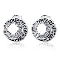 Christmas Delicate Platinum class stytle Earrings,Gift girlfriend beautiful,Pure handmade fashionable,ROXE005