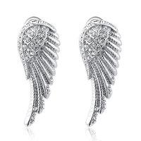 Christmas Delicate Platinum anglewings Earrings,Gift girlfriend beautiful,Pure handmade fashionable,ROXE036