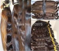"""14""""-26""""inches 100grams/lot Good Quality Soft luster European Human Hair *Russian Hair *virgin Bulk Remy  hair*"""