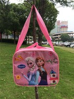 Free Shipping! 5pcs/lot 2014 Fashion Frozen Princess Lunch Bags Cartoon School Lunch Box for Girls Wholesale