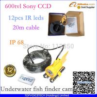 20m Sony color CCD 600TVL CCTV camera,waterproof camera,fish camera,underwater video camera,fish finder,freeshipping