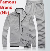 Nk Brand Men Hoodie Set Sportswear Jogging Jacket Sports Suit Leisure Sweatshirt Autumn Winter Cotton Warm Coat Parka Tracksuit