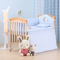 Free shipping cotton crib bedding sets for 0-12months baby  cotton animal kids bedding