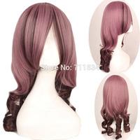Harajuku Wave Styling 65cm Medium Long Party Cosplay costume Wig,Free Shipping