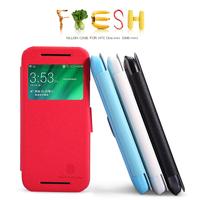 Original Nillkin Casefor HTC One Mini 2 M8 Mini 4 Colors PU Fresh Series Leather PU Case, Free shipping