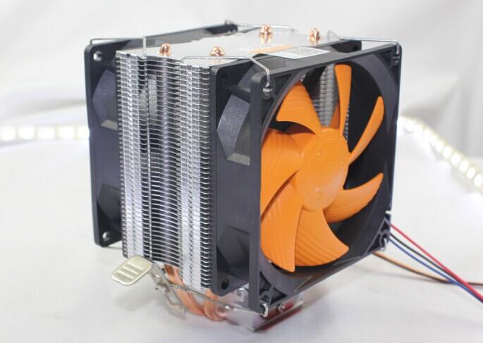 dual 90mm, dual-fan, side-blown, Intel LGA775/1150/1155/1156, AMD AM2+/AM3/FM1/FM2, radiator, CPU FAN, CPU cooler, AgeCooler GL7(China (Mainland))