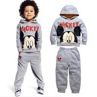 5set/lot wholesale mickey hooded 2pcs set kids sweatshirt pants active clothes ,boy's clothes ,hoodies trouses child clothes
