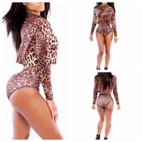 High quality Bikini Superfly biquini Swimsuits Leopard Long Sleeves blouse Shorts swimwear triangl bikini women summer dress