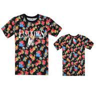 2014 new hot Last kings tee shirts beautiful floral short sleeve t-shirts o neck tees hiphop mens t shirt bboy shirts !