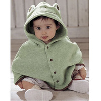 Cute cartoon Baby Cloak Cape coat Autumn and winter clothing Duck Strawberry Windproof coat Warm comfortable