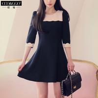 2014 one-piece dress female ol elegant slim half sleeve basic skirt