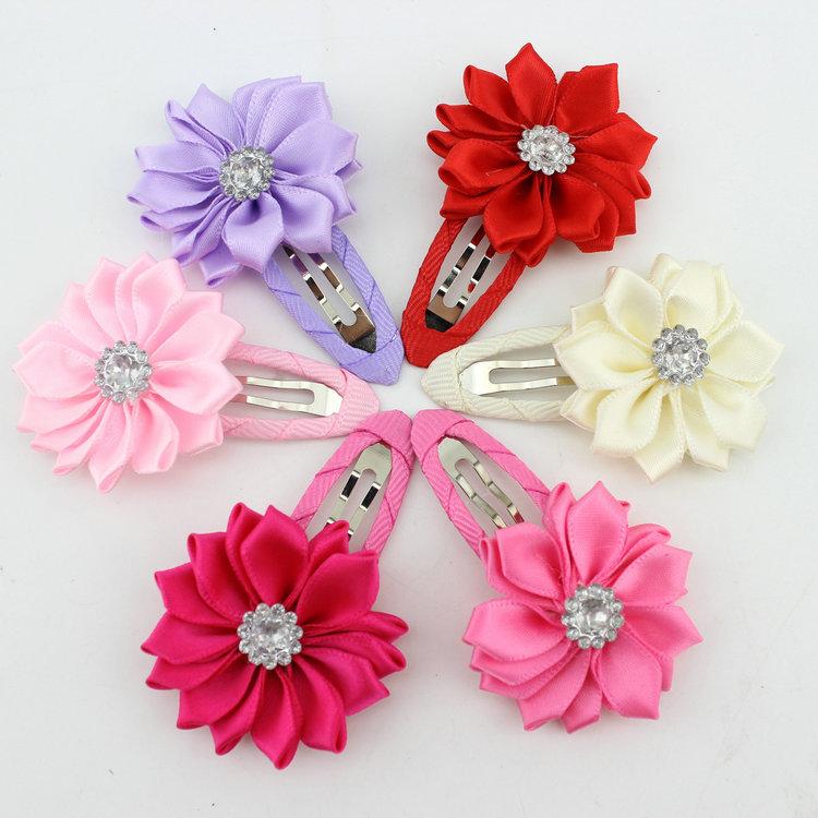 New 2014 high quality polygonal flower hair clips baby girl hairwear baby&kids hairpins children hair accessories(China (Mainland))